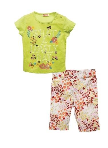 Zeyland Yeşil Baskılı T-shirt ve Çiçekli Pantolon Takım (6ay-4yaş) Yeşil Baskılı T-shirt ve Çiçekli Pantolon Takım (6ay-4yaş) Yeşil